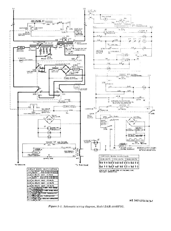 figure 5 1 schemastic wiring diagram model dar 300hfsg. Black Bedroom Furniture Sets. Home Design Ideas
